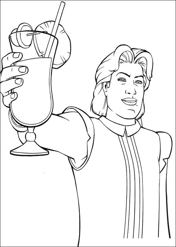 Dream prince coloring page