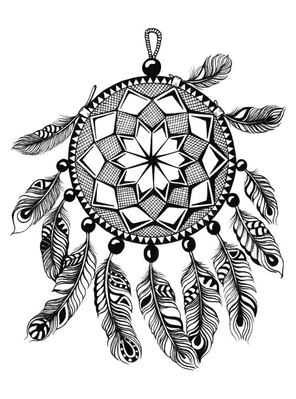 Dreamcatchers (5) coloring page