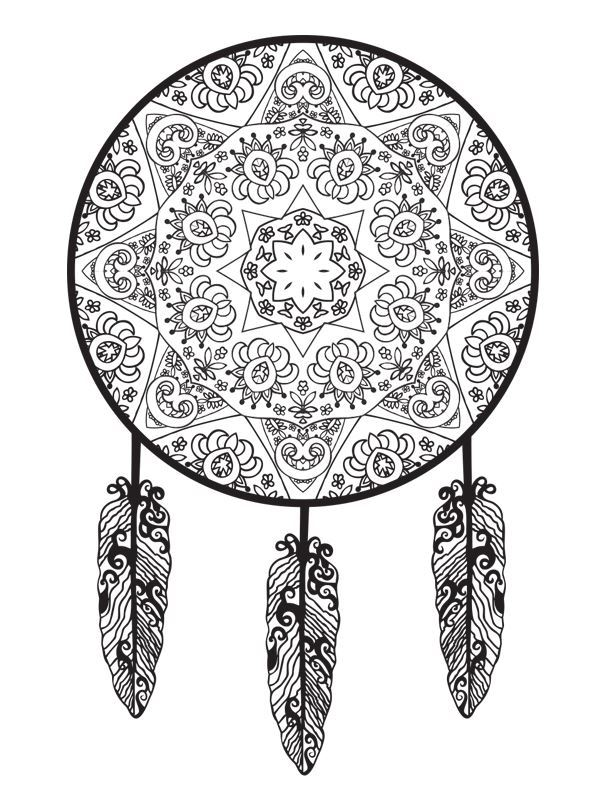 Dreamcatchers (6) coloring page