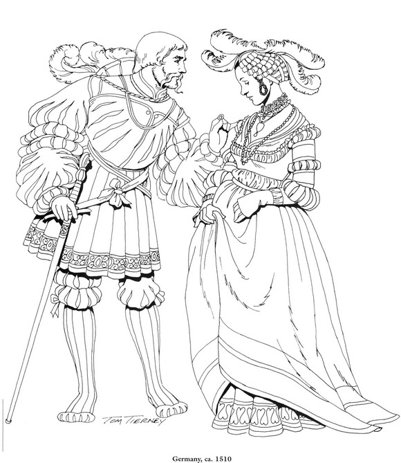 Germany, 1510 coloring page