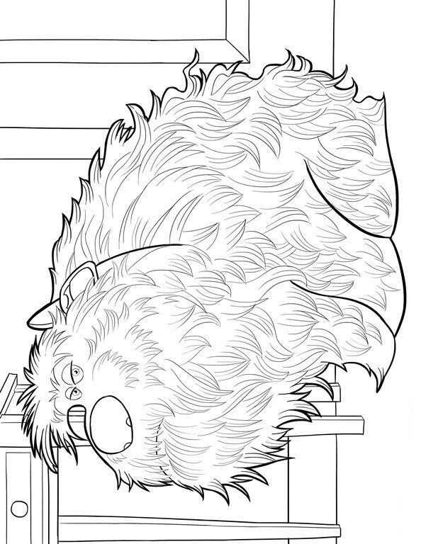 duke coloring page