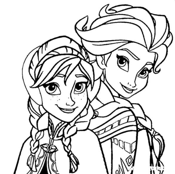 Kleurplaten Elsa Anna.Elsa Anna Frozen Kleurplaat Jouwkleurplaten