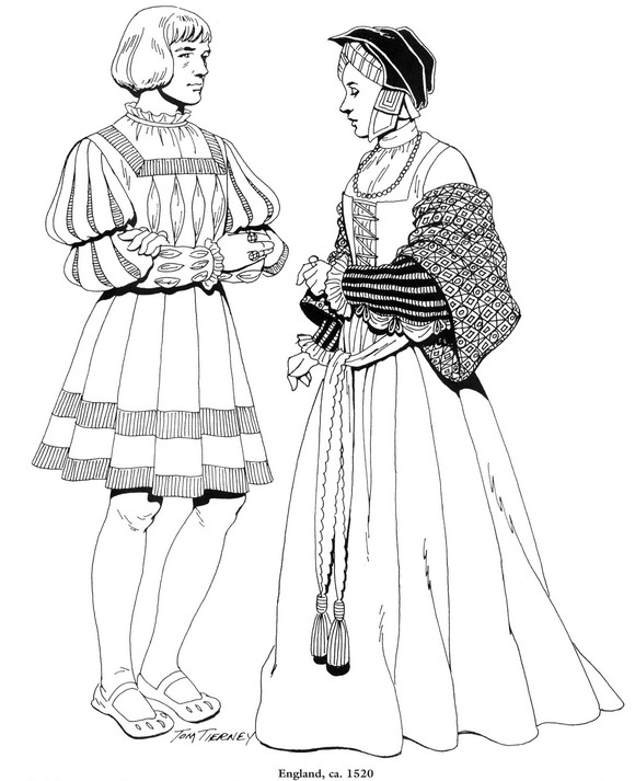 Engeland, 1520 kleurplaat