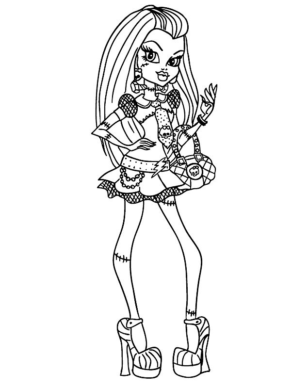 Frankie Stein coloring page