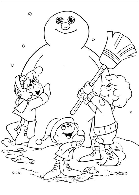 Frosty (2) coloring page