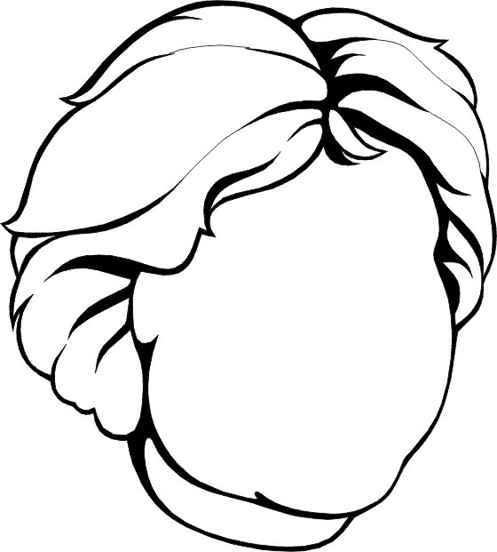 Faces (7) coloring page
