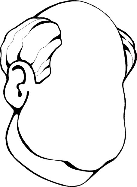 Faces (9) coloring page