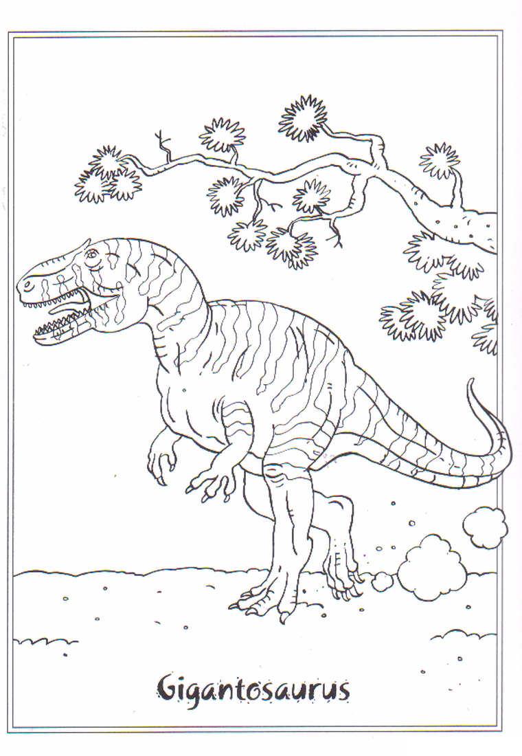Coloriage Gigantosaure