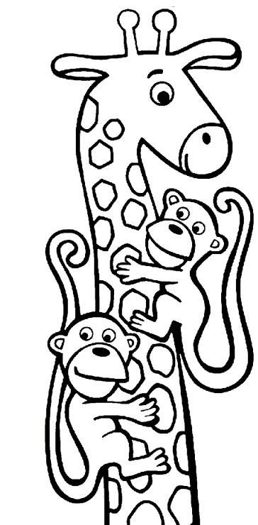 Kleurplaten Van Giraffen.Giraffe Kleurplaat Jouwkleurplaten