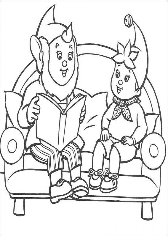 Groot-Oor lit à la page Noddy