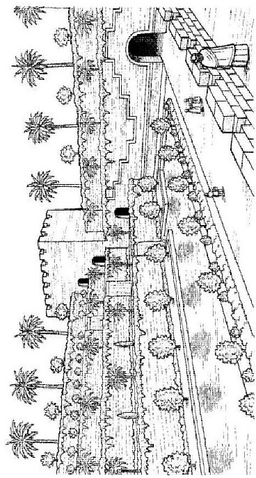 Hanging gardens of Babylon coloring page