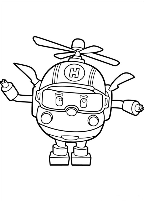 heli coloring page