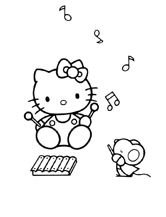 Hello Kitty (31) coloring page