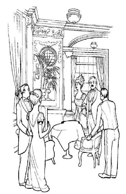 The luxury life on board coloring page