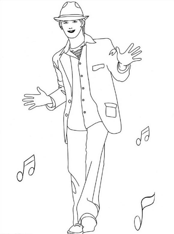 Раскраска Музыкальная школа (4)