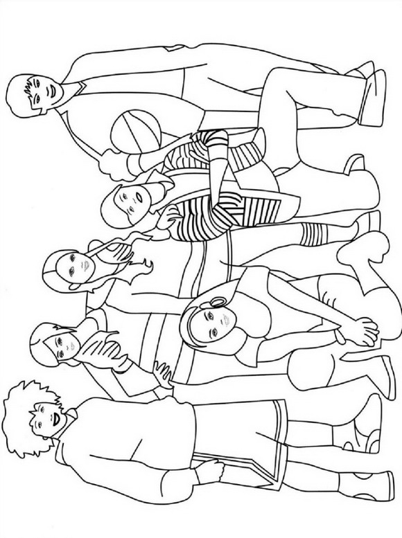 Раскраска Музыкальная школа (5)