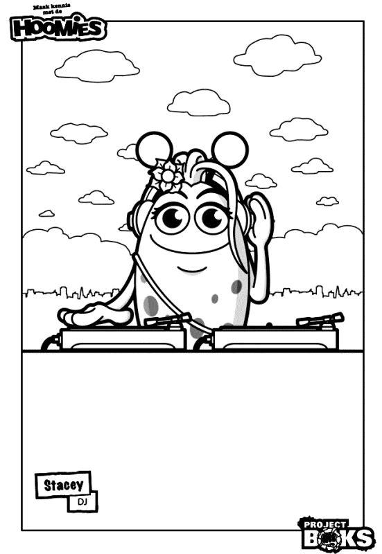 Pagina da colorare di Hoomies