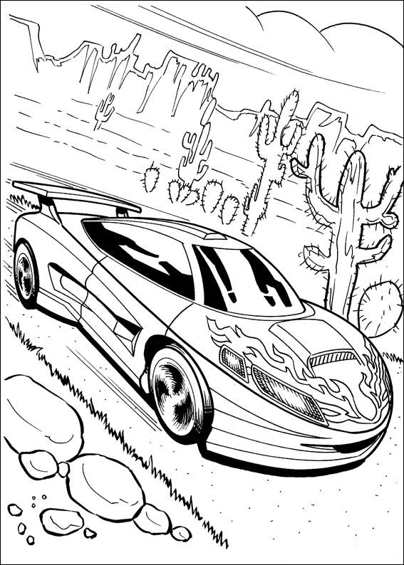 Раскраска Hot Wheels (16)