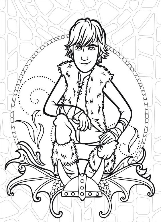 How to train your dragon (12) coloring page