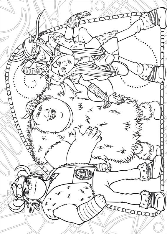 How to train your dragon (13) coloring page