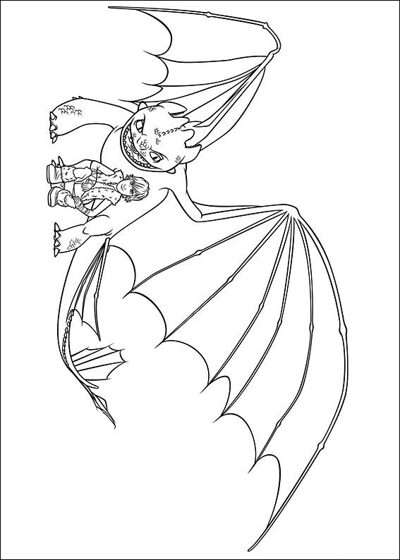 How to train your dragon (14) coloring page