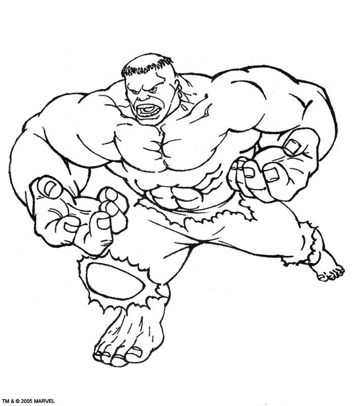 Hulk (43) kleurplaat