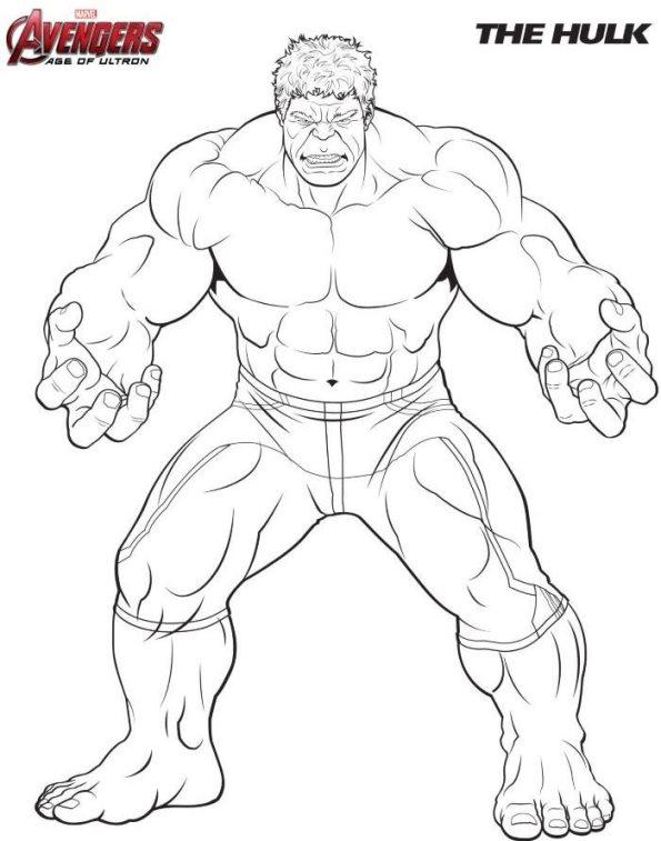 Kleurplaten Hulk.Hulk Kleurplaat Jouwkleurplaten