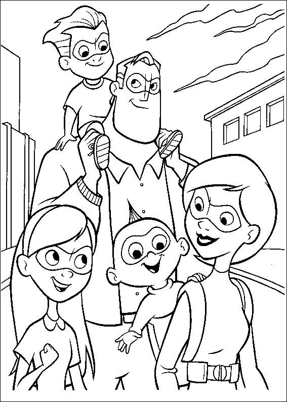 Incredibles (12) coloring page