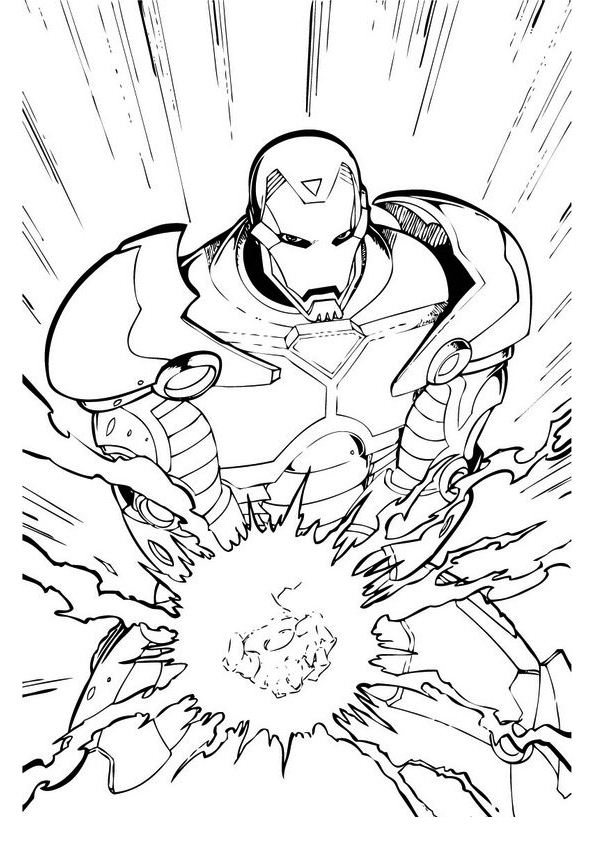 Iron man (54) coloring page