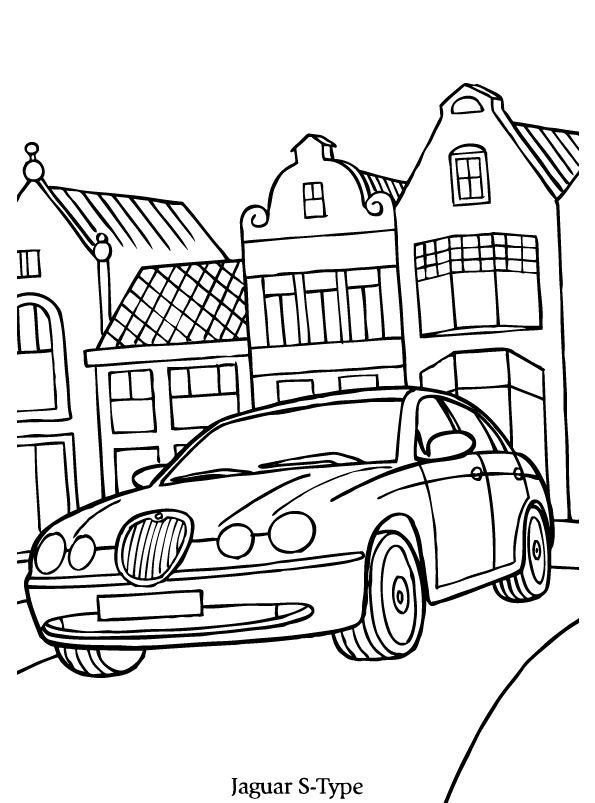 jaguars målarbok