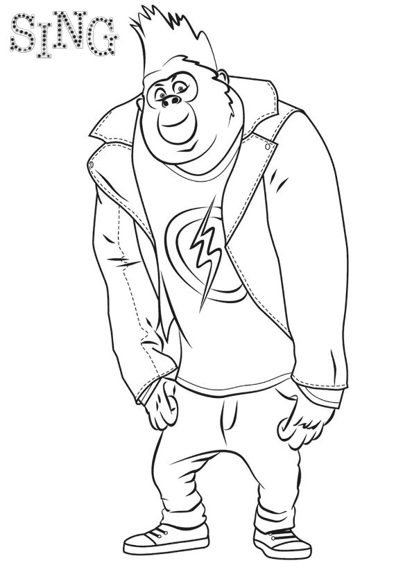 Johnny Sing coloring page