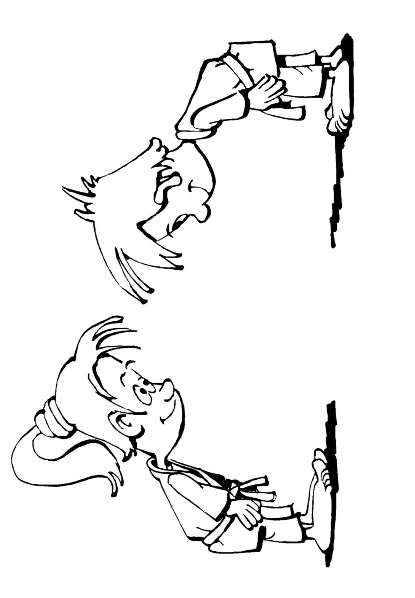 Judo (14) målarbok