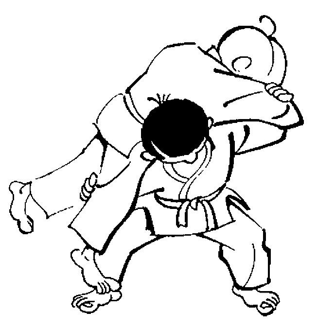 Judo (4) målarbok