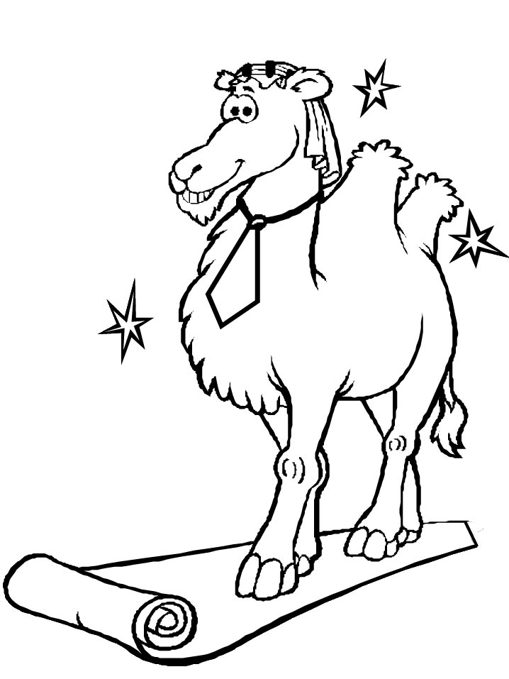 Camels (14) coloring page