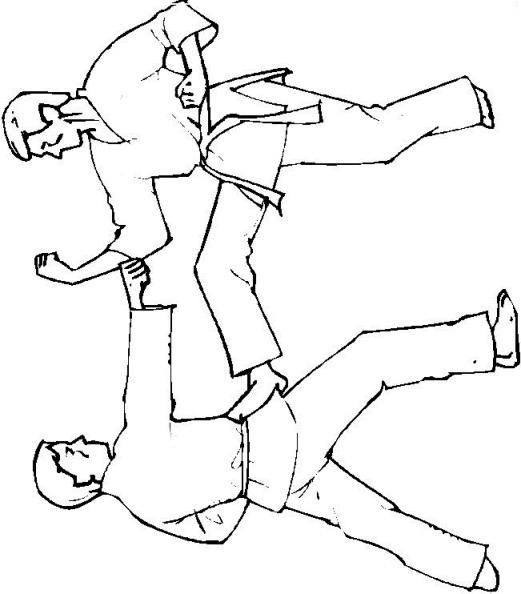 Karate (4) målarbok