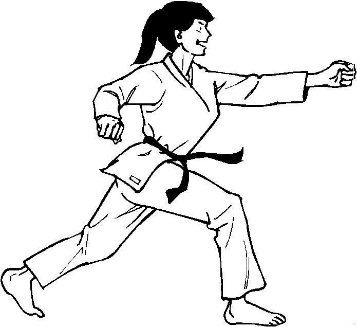 Karate (7) målarbok