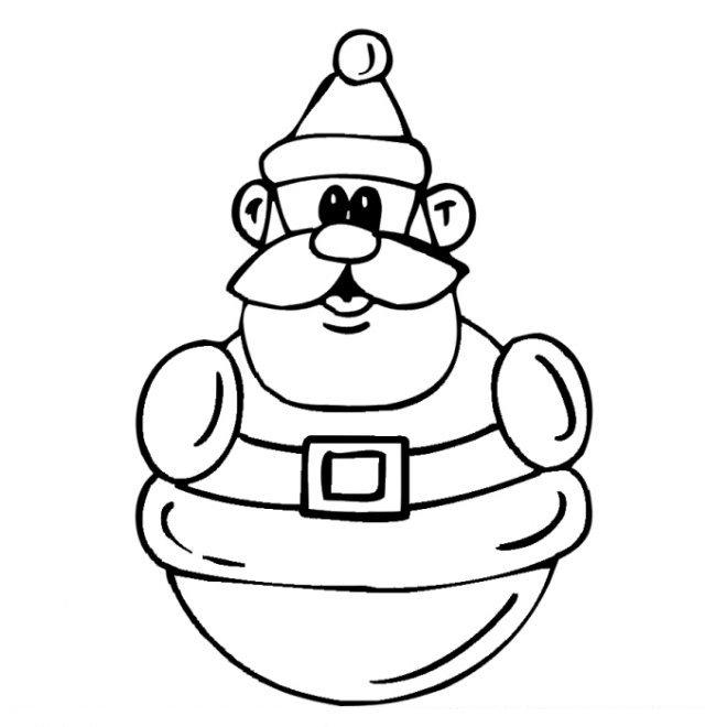 Coloriage Noël - Père Noël (53)