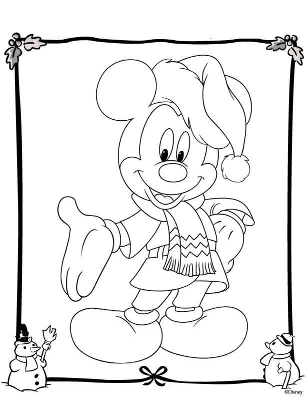 Kleurplaten Kerstmis Disney.Kerstmis Disney Kleurplaat Jouwkleurplaten