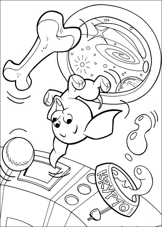 Krypto the Superdog (30) coloring page