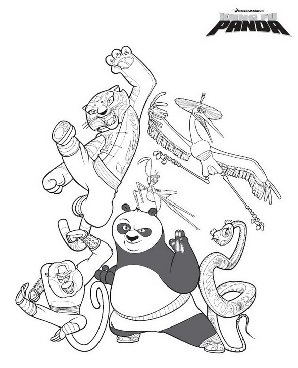 Kung Fu Panda (1) coloring page