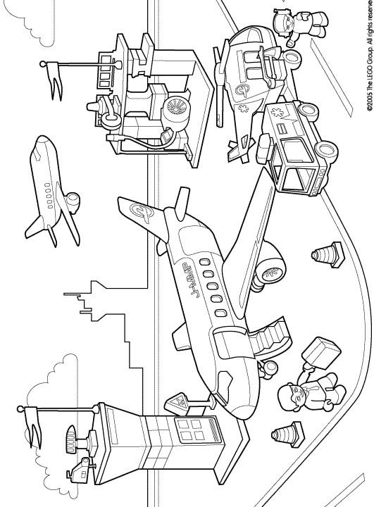 Lego Duplo (3) målarbok