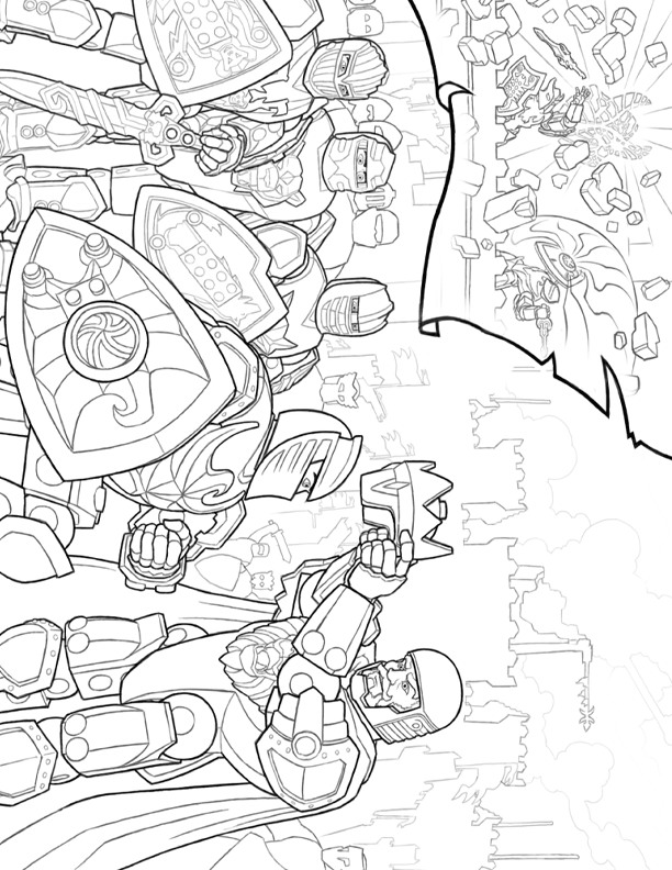 Lego Knights (11) coloring page