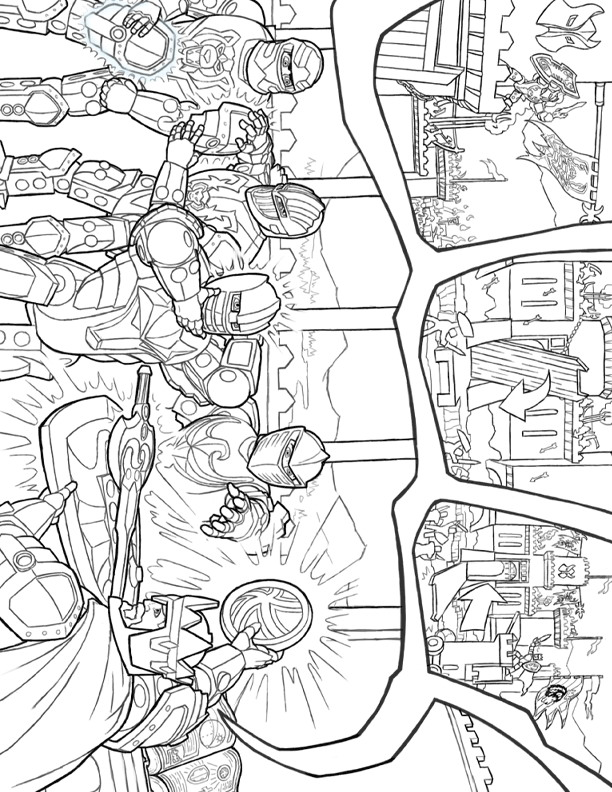 Lego Knights (6) coloring page