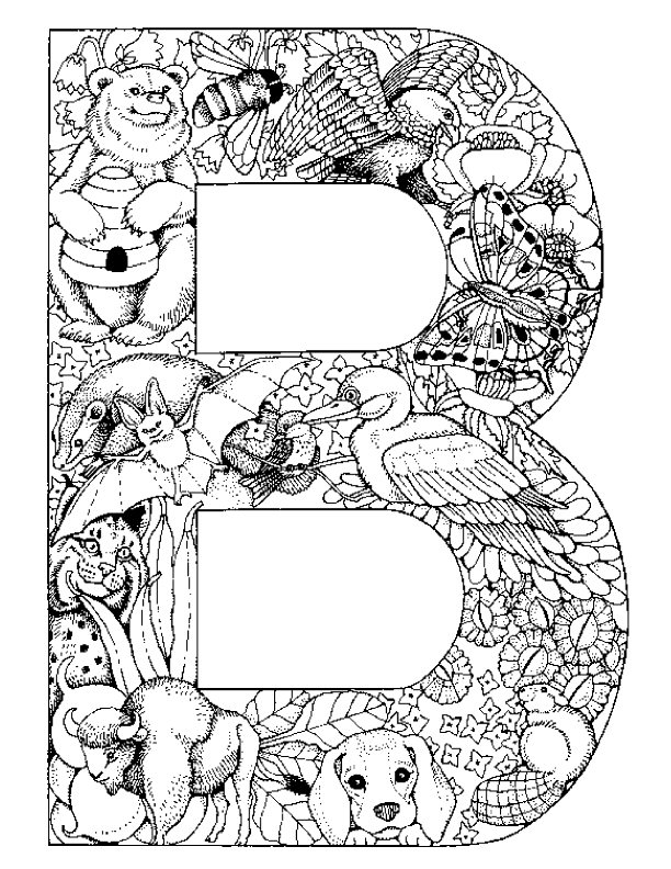 Letter B kleurplaat