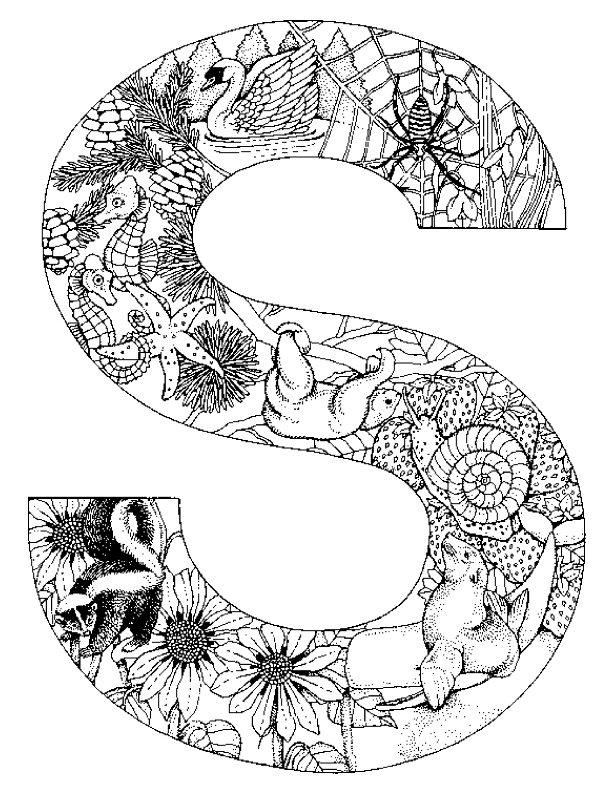 Malvorlagen Buchstabe S ausmalbilder
