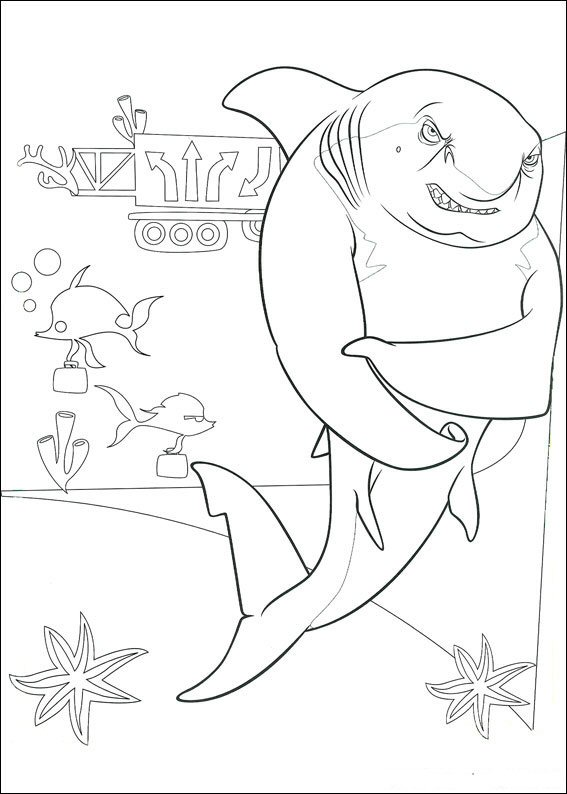 Lino the shark (1) coloring page