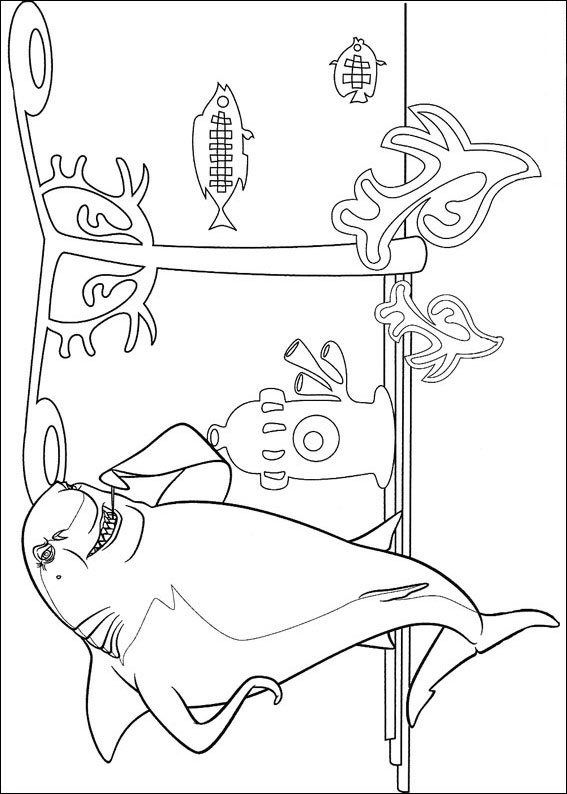 Lino the shark coloring page