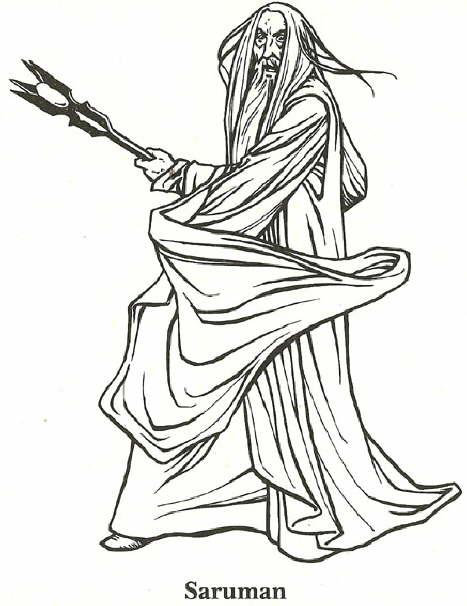 Lord of the Rings, Saruman σχέδια για ζωγραφική