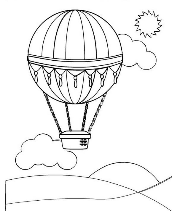 Luchtballonnen (3) kleurplaat
