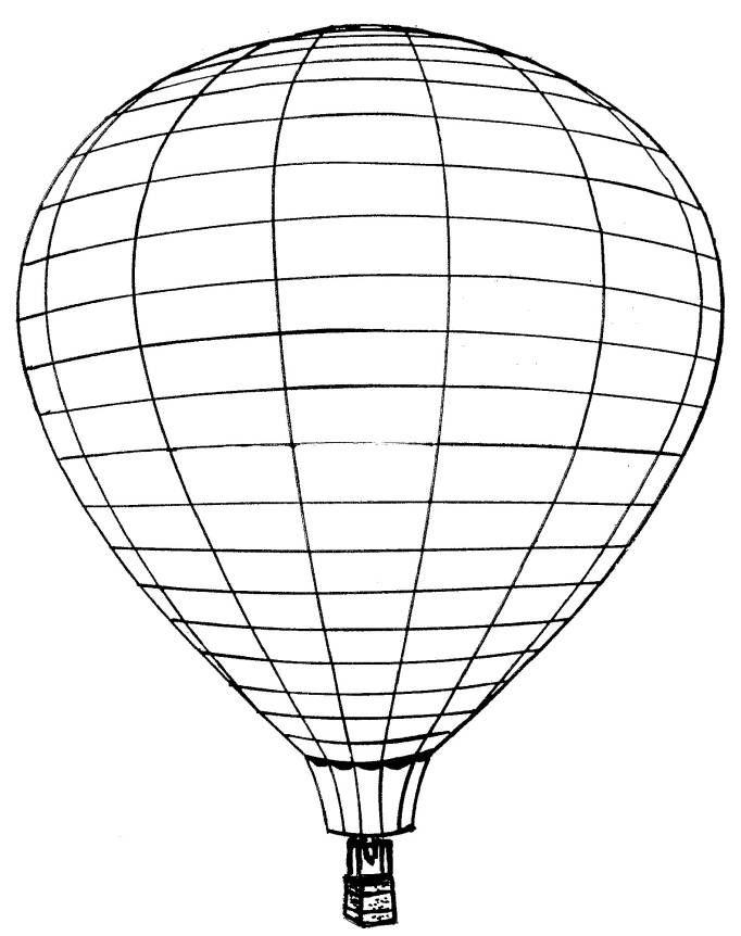 Varmluftsballonger (4) målarbok